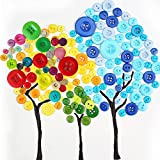 Happlee 400Pcs Favorite Findings Basic Buttons Assorted Colors and Sizes, Round Resin Buttons for Sewing, Art & Crafts Projects, DIY Decoration and More (Colorful Series)
