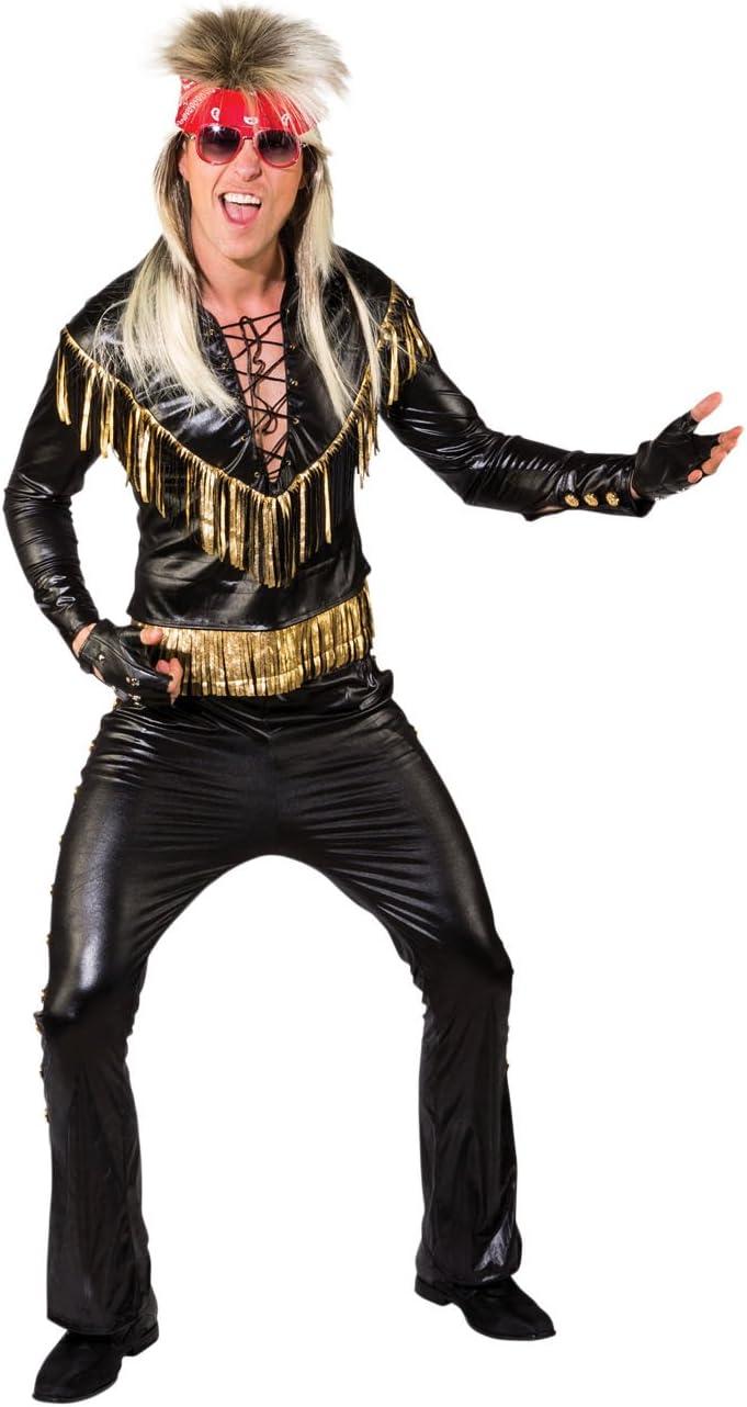 Bristol Novelty AF062 - Disfraz de roquero, color negro y dorado ...