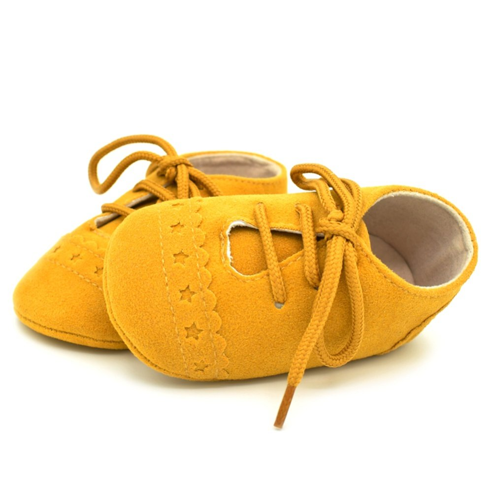 Weixinbuy Infant Baby Boy Girl Soft Sole Anti-Slip Casual PU Leather Lace Shoes