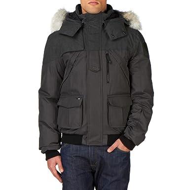 Nobis Men's Higgins Wool Blend Down Bomber Jacket, Grey/Heather Charcoal,  XX-