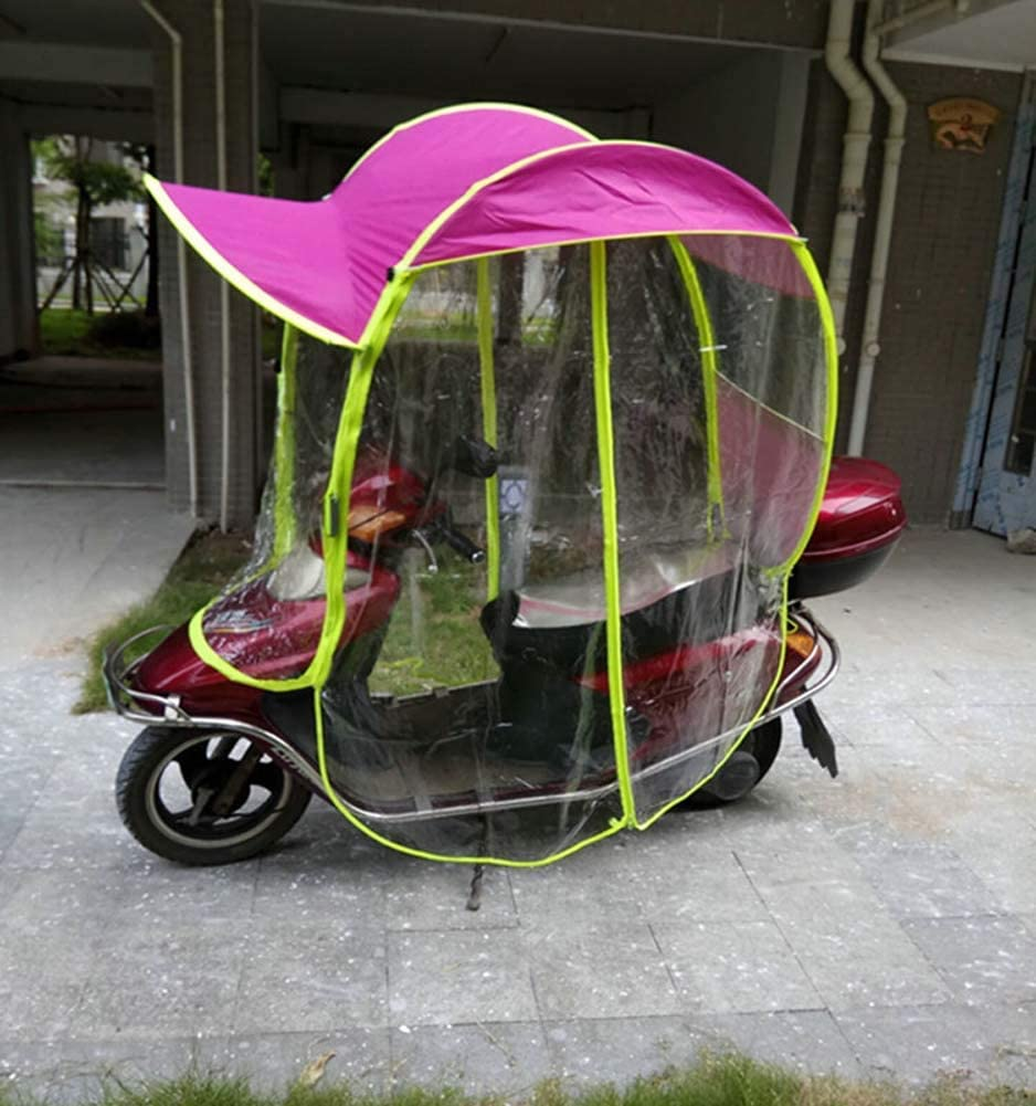 Rziioo Universal Electric Motorcycle Sunshade Cover Scooter Rain Waterproof Cover Battery Car Canopy Umbrella Cover