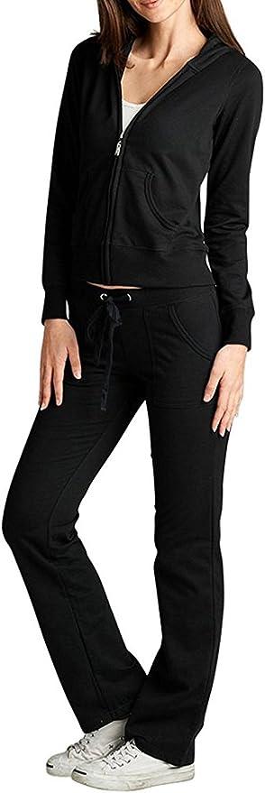Women/'s Tracksuit Hoodies  Sport Wear Sweatshirt Pants Set Jogging Casual Suit
