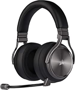 Corsair Virtuoso RGB Wireless SE Gaming Headset - High-Fidelity 7.1 Surround Sound W/ Broadcast Quality Microphone - Memory Foam Earcups - 20 Hour Battery Life – Gunmetal, Special Edition