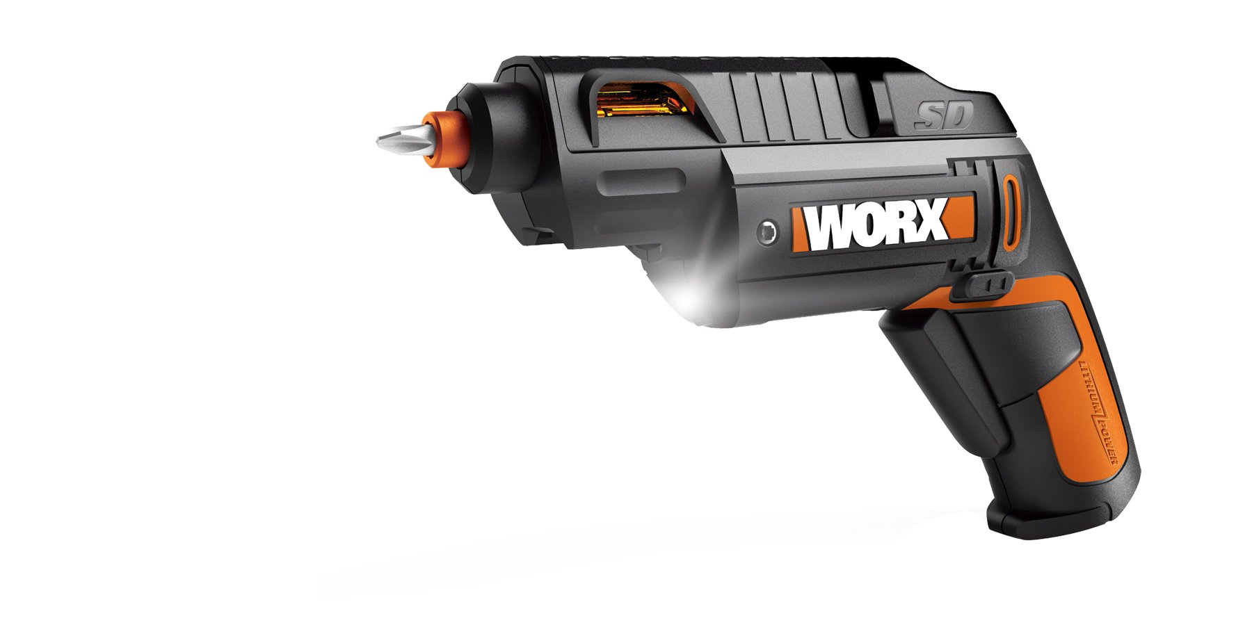 WORX WX254L SD Semi-Automatic Power Screw Driver with 12 Driving Bits by WORX