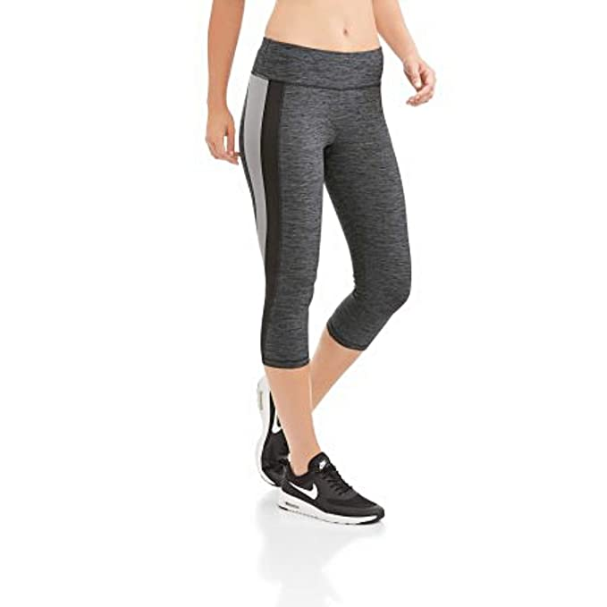 fafa82788afa0 Athletic Works Women's Active Performance Capri Leggings (XXL) Grey Melange