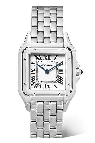 Cartier Panthere Quatz - Reloj de Pulsera para Mujer, Acero Inoxidable, Esfera Plateada, 27 mm: Amazon.es: Relojes