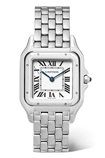 Cartier Panthere Quatz - Reloj de Pulsera para Mujer, Acero Inoxidable, Esfera Plateada,