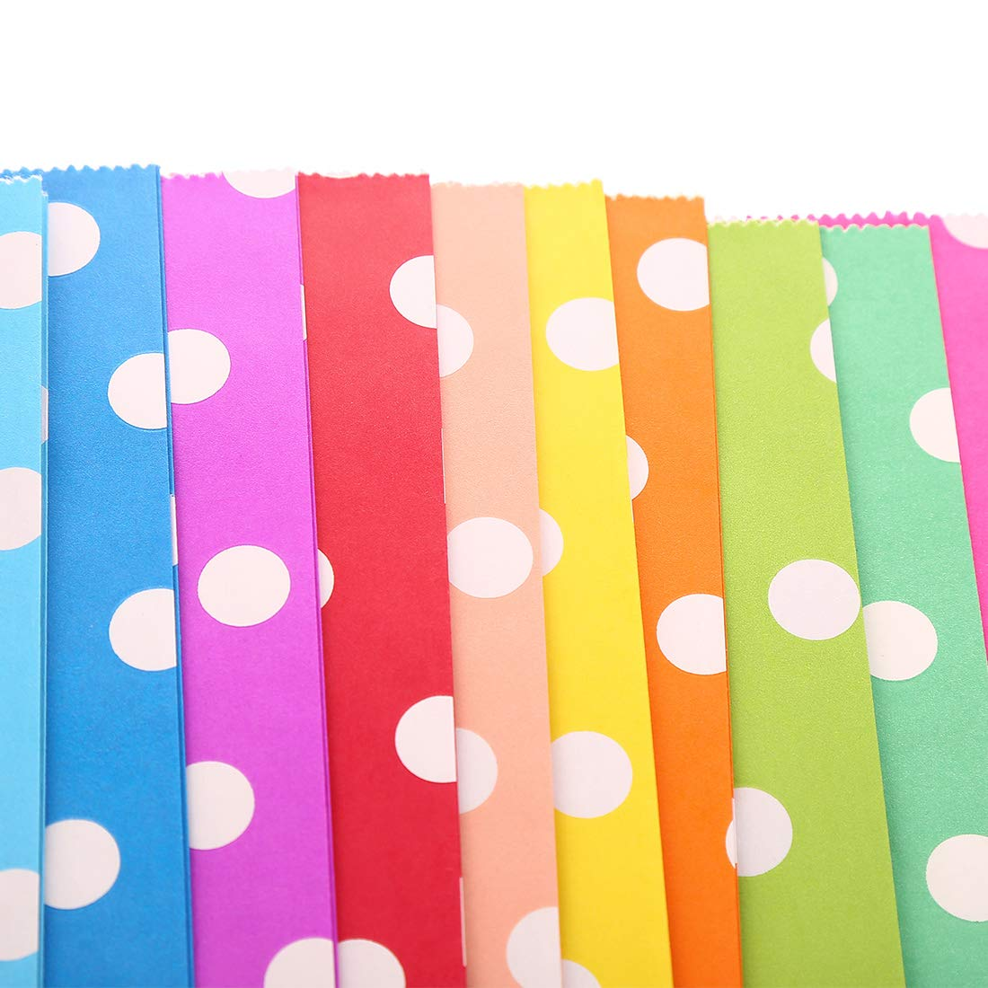 13 x 8x 24cm LOKIPA 24 Party Gift Bags Polka Dot Paper Party Bags with 36 Pieces Thank You Party Stickers for Birthday Party Supplies