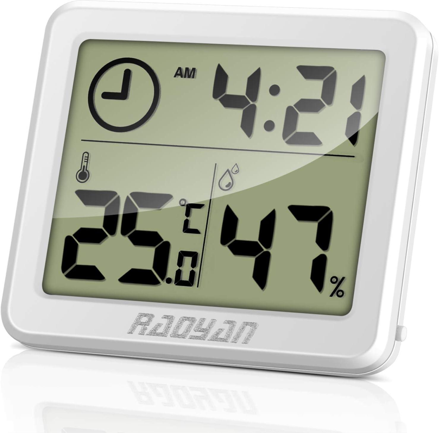 Raoyan Thermometer Hygrometer Thermometer Innen Mit Hohen Genauigkeit Temeo Hygro Indicator Zum Aufstellen Oder Zur Mit Raumklima Indikator Garten