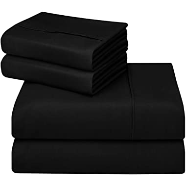 Utopia Bedding 4-Piece King Bed Sheets Set (Black)