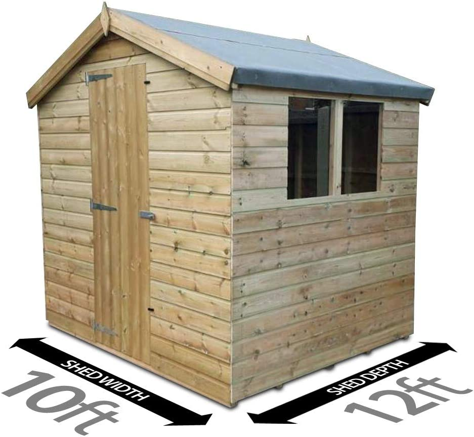 3.0m Shed Pent Shed Garden Shed Timber Shed 3.6m x 10ft Total Sheds 12ft
