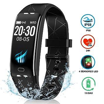 NAIXUES Pulsera Actividad Inteligente GPS, Pulsera Deportiva IP68 para Natación, 7 Modos Deportes,