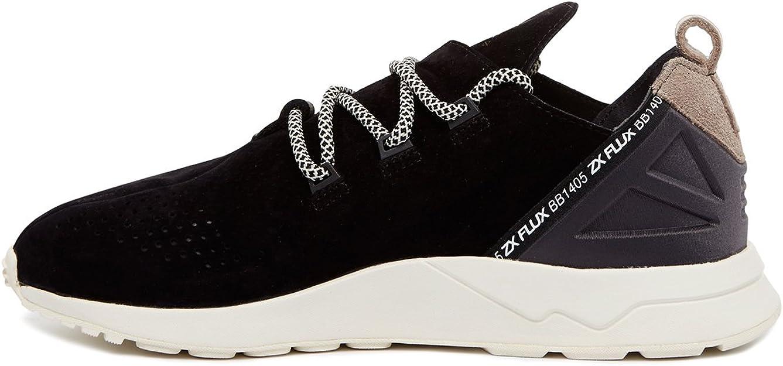 Adidas, uomo, zx flux adv x black, tessuto tecnicosuede