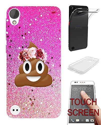 002414 - Emoji Smiley Face Floral Poo Princess Design Htc
