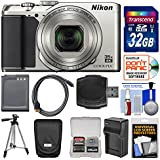 Nikon Coolpix A900 4K Wi-Fi Digital Camera (Silver) 32GB Card + Case + Battery + Charger & Tripod + Kit