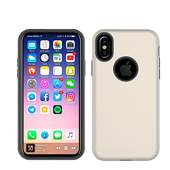 aa8b4a7e8 for iPhone XS and iPhone X Case, Ailiber Slim-fit Multicolor Silky Soft-