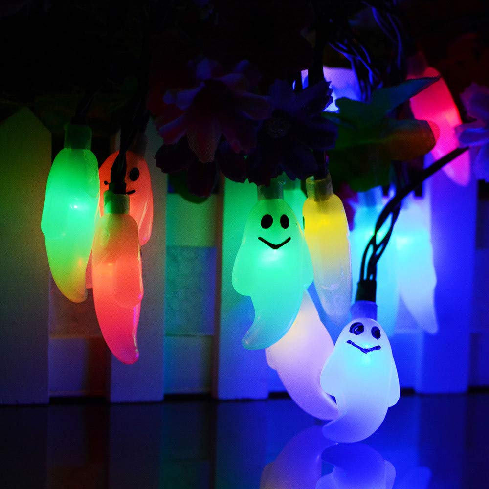 Hot Sale!DEESEE(TM)2.5m 20 LED Halloween Ghost String Lights Battery Operated Lights with Remote Control (Multicolor)