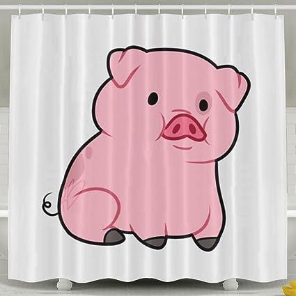 Amazon Com Letepro Cute Pig Cartoon Drawing Waterproof Fabric