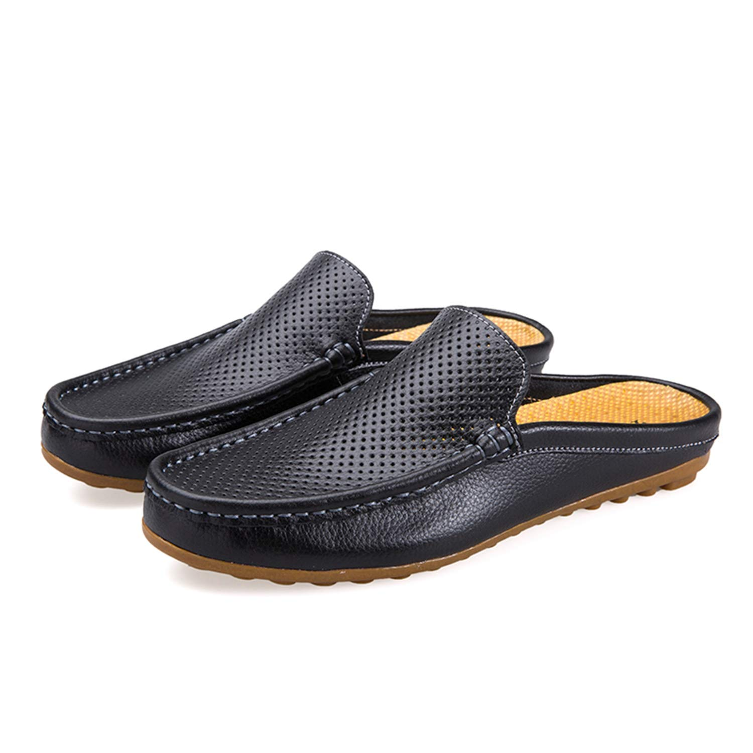 Amazon.com   Yincoo Summer Mens Half Shoes Casual Loafers Genuine Leather Hollow Out Breathable Shoes Slip on Moccasins   Loafers & Slip-Ons