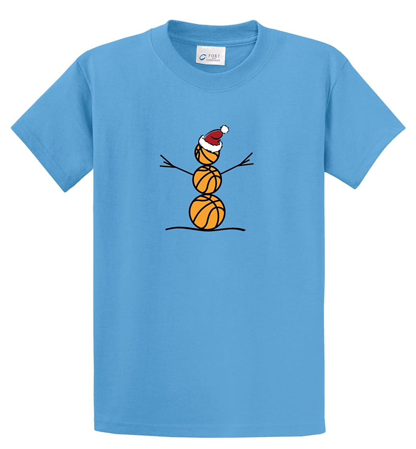 Basketball Snowman short-sleeve T-shirt