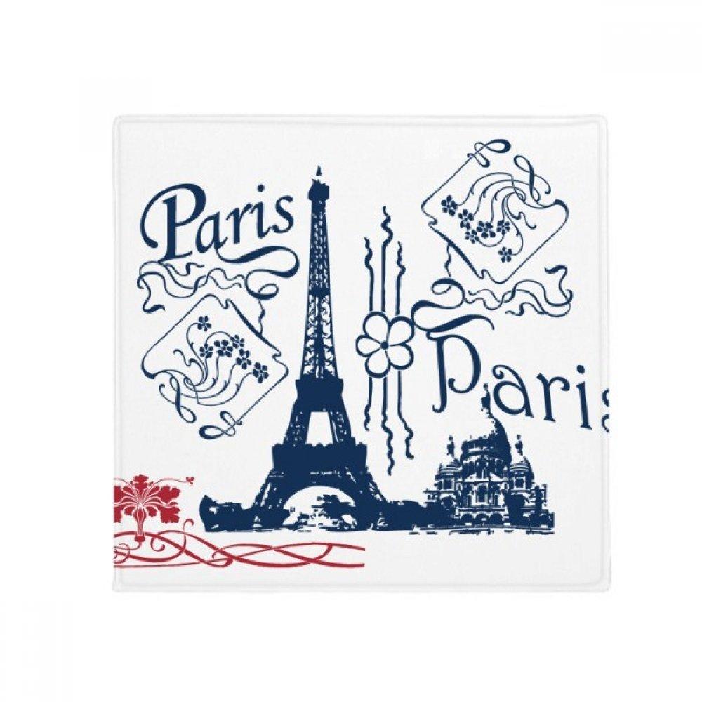 DIYthinker Eiffel Tower France Paris Line Drawing Anti-Slip Floor Pet Mat Square Home Kitchen Door 80Cm Gift