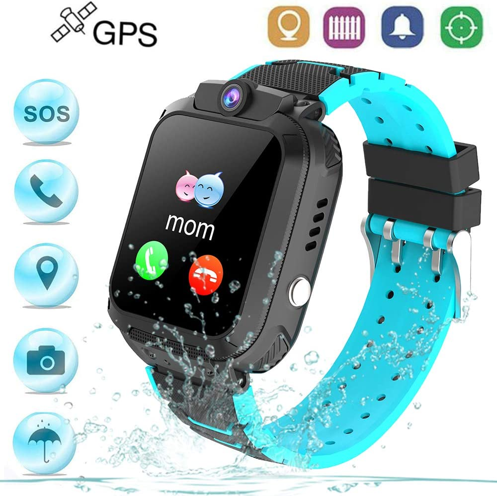 Winnes Reloj Inteligente Niño, Reloj Smartwatch Niños Niña GPS Soporte GPS + LBS de Doble Posicionamiento Geo-Cerca/intercomunicador de Voz Reloj Phone para niño (S12G Nergo)