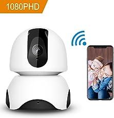 Cámara de seguridad inalámbrica HD Cámara de domo de cámara IP de 360 grados WiFi Cámara de niñera de 1080P Sistema de vigilancia de casa / bebé / animal doméstico Monitor con visión nocturna Servicio de nube de audio de dos vías disponible Detección de movimiento Pan / Tilt / Zoom