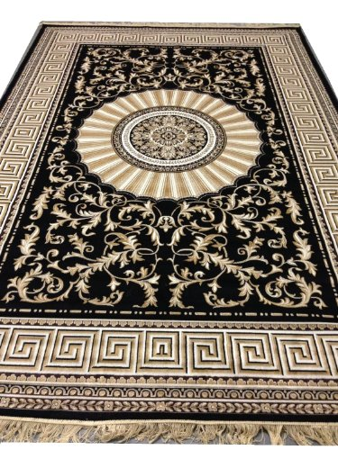 versace teppich best kuhfell teppich xxl rinderfell schwarz gold gesprenkelt l x bcm with. Black Bedroom Furniture Sets. Home Design Ideas