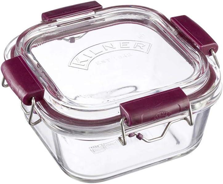 Cristal, 1400 ml, 750 ml, 350 ml, con Cierre de Clip EST Kilner Juego de 3 recipientes herm/éticos