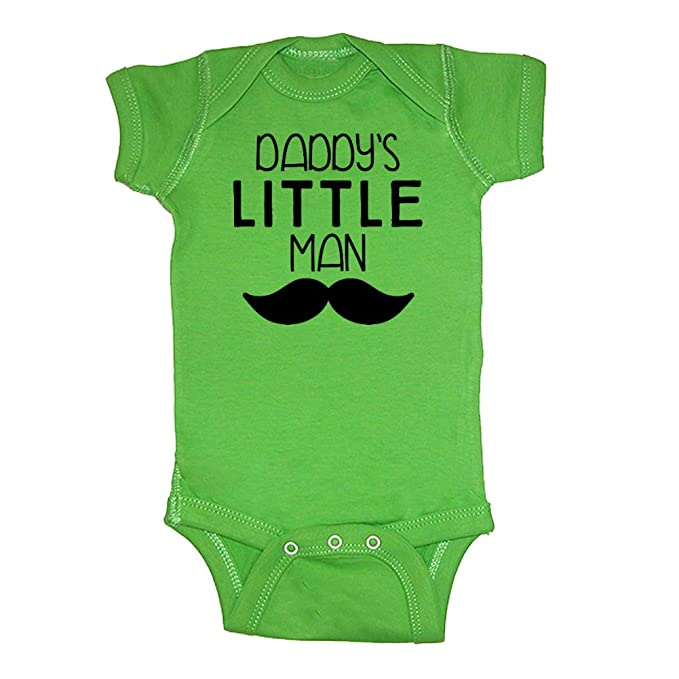 c7e0058b790d Mashed Clothing - Daddy s Little Man (Mustache) - Daddy Gift Father s Day -  Baby