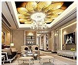 ZLJTYN 270cmX180cm Custom 3D wallpaper Silk cloth wallpaper European-style luxury artistic ceiling zenith wallpaper