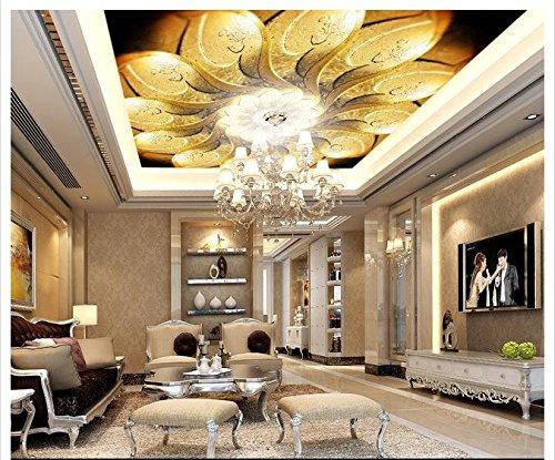 ZLJTYN 270cmX180cm Custom 3D wallpaper Silk cloth wallpaper European-style luxury artistic ceiling zenith wallpaper by ZLJTYN (Image #3)