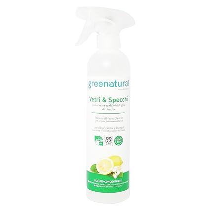 GREEN NATURAL - Limpiador Orgánico para Vidrios y Espejos - con ...