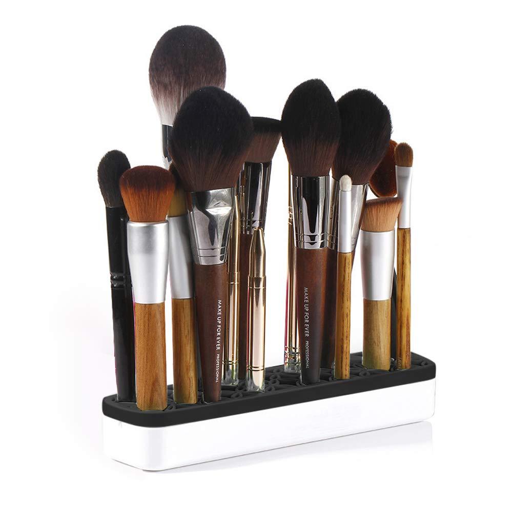 Oceanton Silicone Makeup Brush Holder Cosmetic Display Organizer, Portable Multifunctional Beauty Tools Organizer and Cosmetic Storage, Sew Organizer (Black)