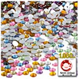 The Crafts Outlet 1,000pc Rhinestones Round 5mm - 21ss Pastel Assortment