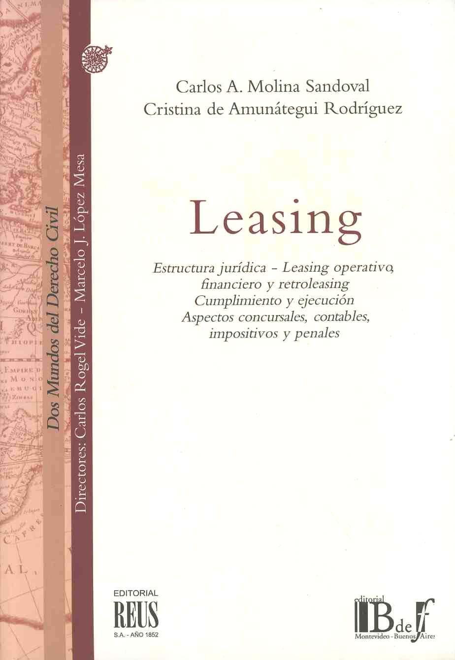 Leasing Estructura Jurídica Carlos A Molina Sandoval