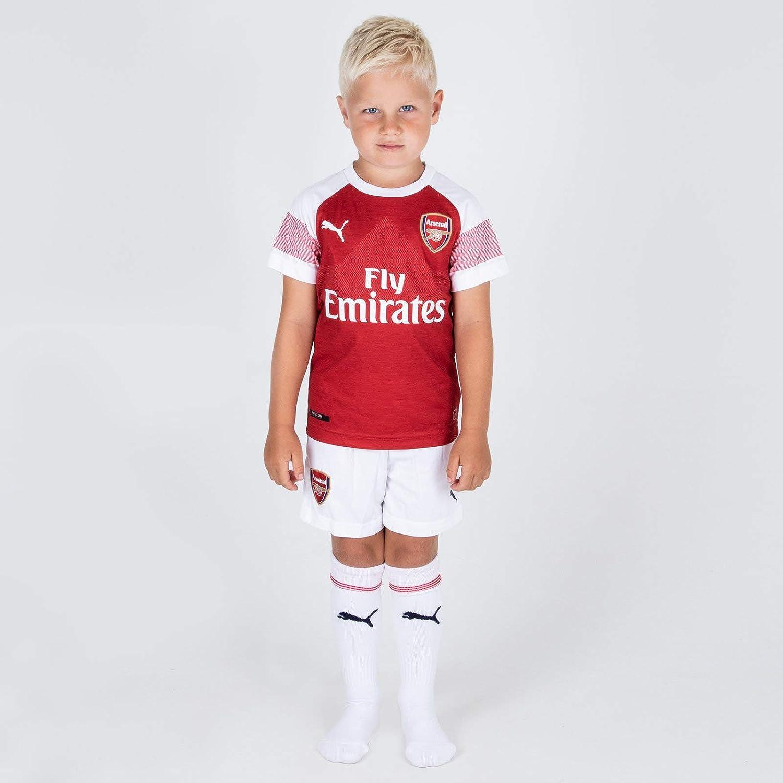 on sale 3d9d4 7ba73 Puma Arsenal 18/19 Home Mini Kids Football Kit Red Sports ...