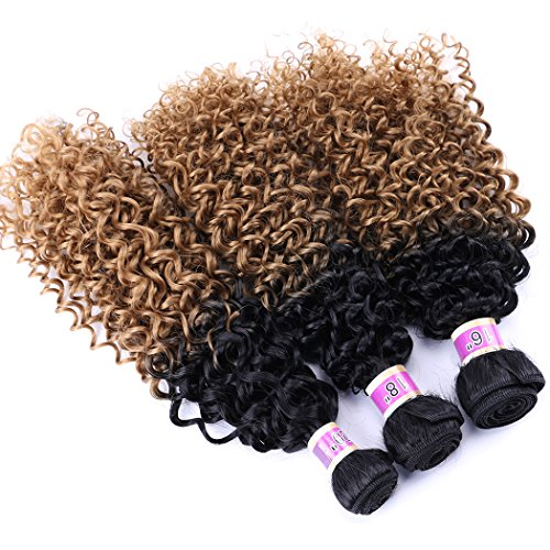 Syntheitc Bundles Kinky Curly Hair Weave 16 18 20 Inches 3 Bundles Hair Extensions