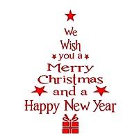 Window Sticker, Xinantime Christmas Tree Letters Stick Wall Art Decal Mural Wall Sticker