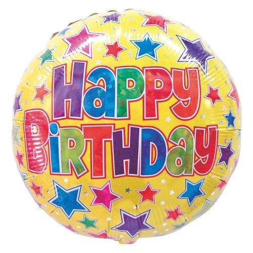 Betallic 86823p Bold Sterne Geburtstag Holo Shop Ballon Pack, 45,7cm