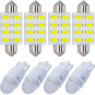 Yoper Bright White Interior LED Light Package Kit for Ford F-150 1997-2014 F-250 F-350 F-450 F-55 2000 2001 2002 2003 2004 2005 2006 2007 2008 2009 2010 2011 2012 2013 2014 Replacement Bulbs 12pcs: Automotive