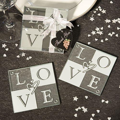 (LOVE Coaster Wedding Favors (Set of 2), 72)