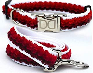 "product image for Diva-Dog 'Cabo Red Sunset' Custom Small Dog 5/8"" Wide Dog Collar with Plain or Engraved Buckle, Matching Leash Available - Teacup, XS/S"