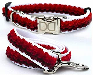 "product image for Diva-Dog 'Cabo Red Sunset' Custom Medium & Large Dog 1"" Wide Dog Collar with Plain or Engraved Buckle, Matching Leash Available - M/L, XL (M/L: Engraved Buckle + Leash 5' x 1"")"