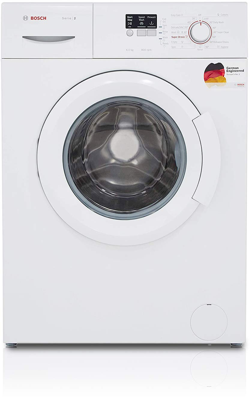 Bosch 6 kg Fully-Automatic Front Loading Washing Machine (WAB16060IN, White,...
