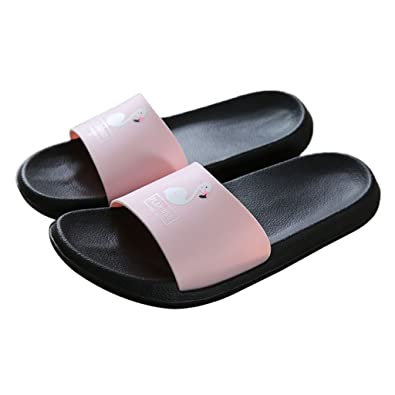 345a637b0a27ee CUIGU Fashion Women Slides Flamingo Cartoon Slippers Sandals Beach Shoes  Flip Flops  Amazon.co.uk  Shoes   Bags