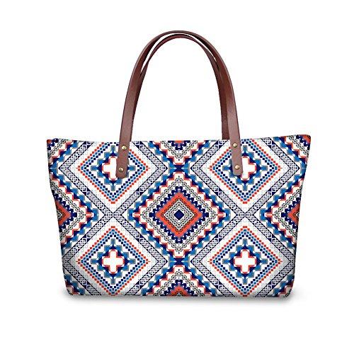 Handbags Satchel V6lcc4274al Bags Shopping Top Women FancyPrint Shoulder Handle 1Y8WqY0P