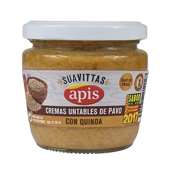 Apis Crema de Pavo con Quínoa - Paquete de 8 x 160 gr - Total: