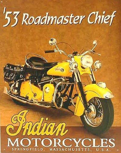 TIN SIGN Indian Roadmaster , 13x16