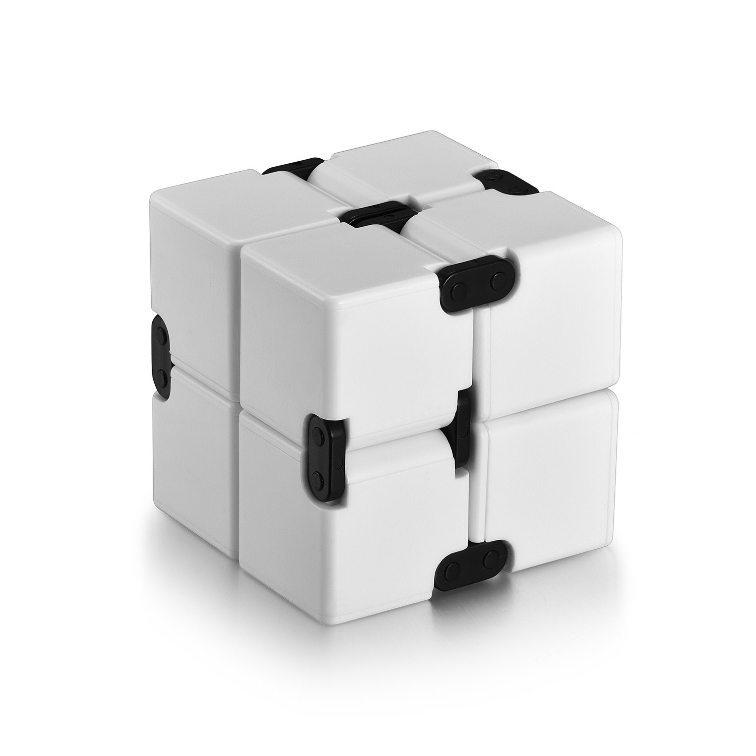 Infinity Cube Fidget Cube Toy for Adults & Kids Relieve Stress & Anxiety Hand Fidget Stress Reducer Best for ADD,ADHD,OCD,Anxiety Disorder,Autism by Ganowo (White)